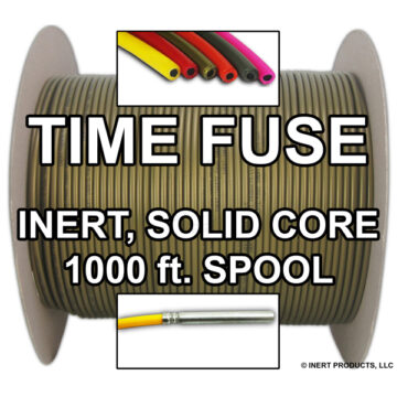 Time Fuse (Solid Core) -1000 ft Spool (Bronze) - Inert Training Aid