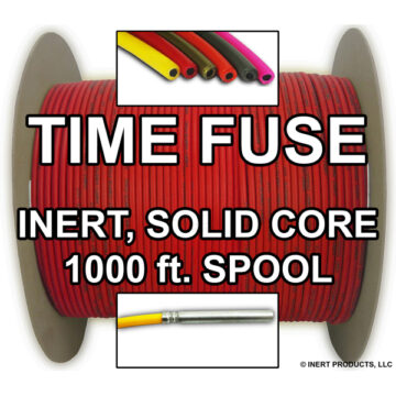 Time Fuse (Solid Core) - 1000 ft Spool (Red) - Inert Training Aid