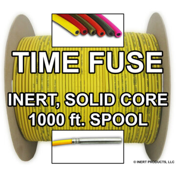 Time Fuse (Solid Core) - 1000 ft Spool (Yellow) - Inert Training Aid