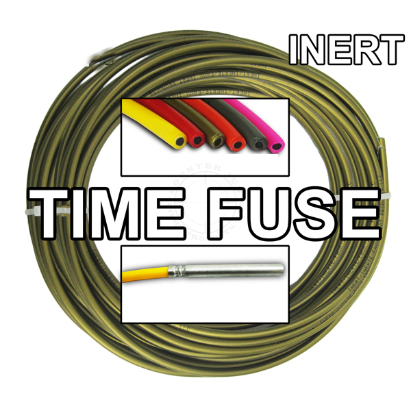 Time Fuse (Solid Core) - 100 ft Coil (Bronze) - Inert Training Aid