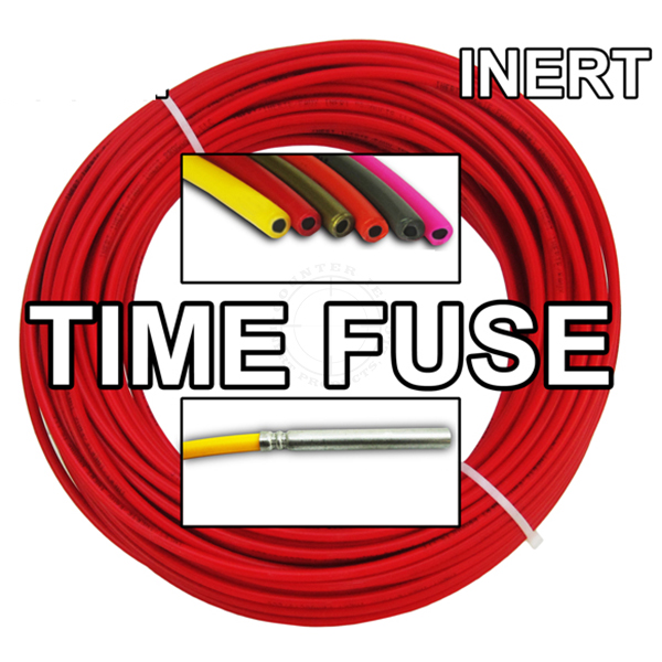 Time Fuse (Solid Core) - 100 ft Coil (Red) - Inert Training Aid
