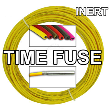 Time Fuse (Solid Core) - 100 ft Coil (Yellow) - Inert Training Aid