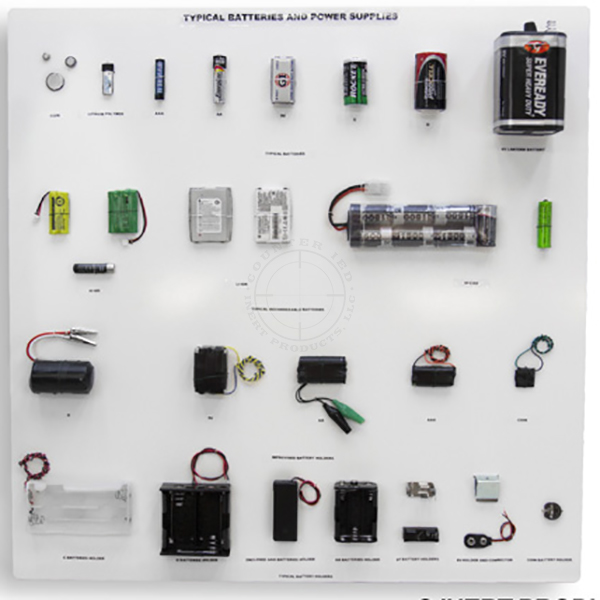 "IED Batteries and Power Supplies Display Board (24"" x 24"")"