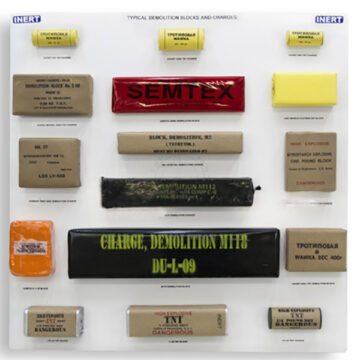 Typical Demolition Blocks and Charges Display Board