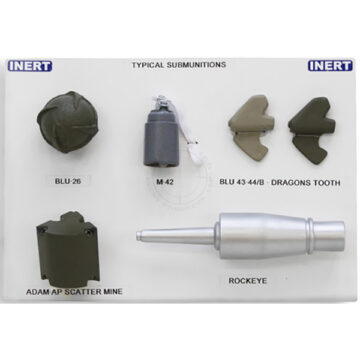 "Inert Replica Submunitions Display Board (11"" x 14"")"