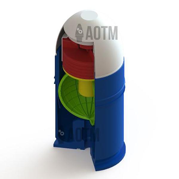 AOTM 40mm Grenade Cutaway - Inert Classroom Training Aid
