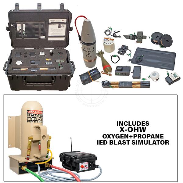 X-OHW Platoon Level Functional IED Training Kit w Oxygen+Propane IED Blast Simulator OTA-X0HW-TK02