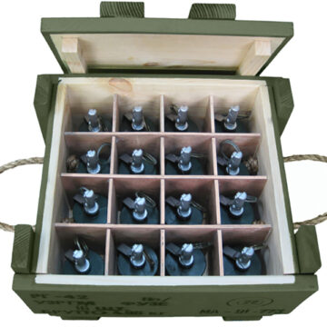 RG-42 Soviet Frag Grenades Crate (with 16x Replica Grenades)