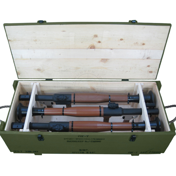 RPG-7 Rocket Launchers Crate (with 3x Replica Launchers)