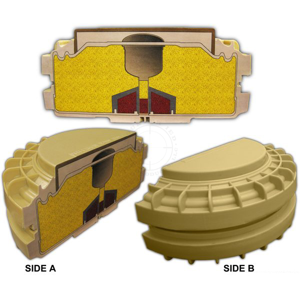 VS-1.6 Anti-Tank Mine Cross-Section - Inert Replica Training Aid