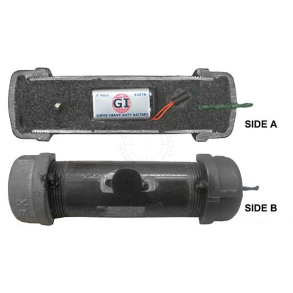 Steel Pipe Bomb Booby Trap Cutaway, Medium (Functional w/ Buzzer) - Inert Replica Training Aid