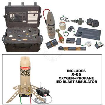 X-05 Platoon Level Functional IED Kit with Oxygen+Propane IED Blast Simulator OTA-X05-TK02